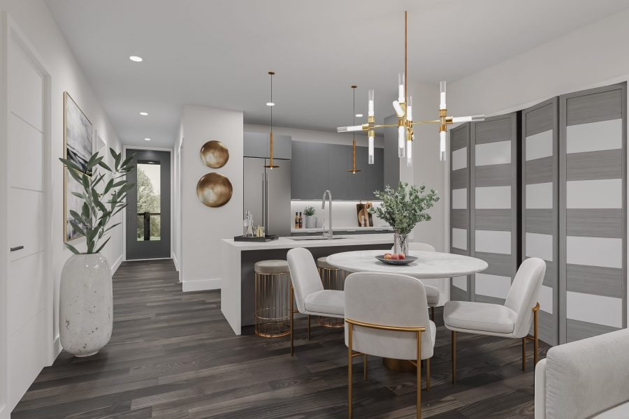 Kitchen and Dining Urban Towns by Kaneff Greens Park